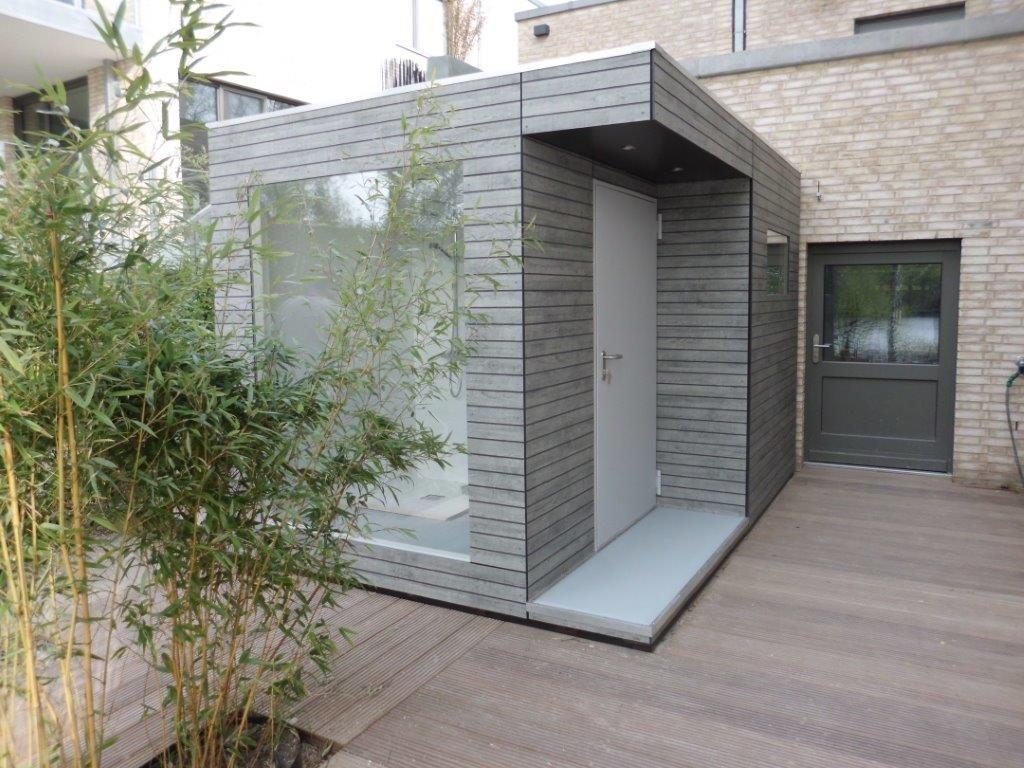 Exklusives CUBE – Design Gartenhaus in Berlin mit vielen Extras