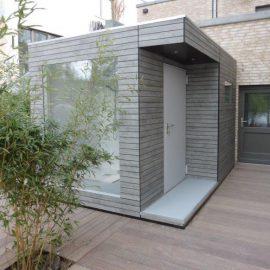 Exklusives CUBE - Design Gartenhaus in Berlin mit vielen Extras