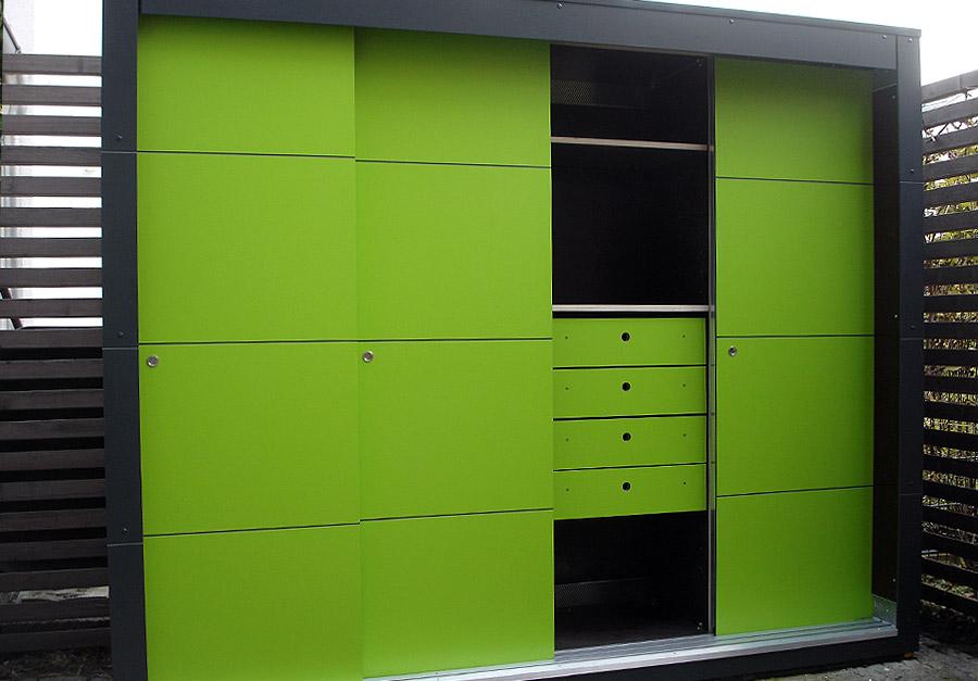 Knalliger KABINETT – Design Gartenschrank in Berlin