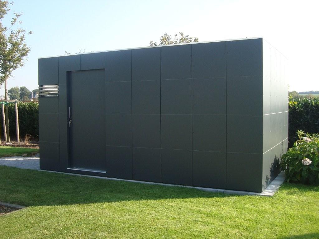 CUBE – Design Gartenhaus als rechteckiger Design Würfel in Alzey