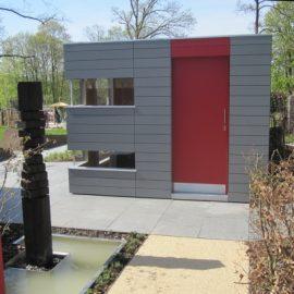 CUBE - Design Gartenhaus auf dem Messegelände in Bad Nauheim
