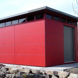 CUBE - Design Gartenhaus in Albbruck als Vater-Sohn Beziehung