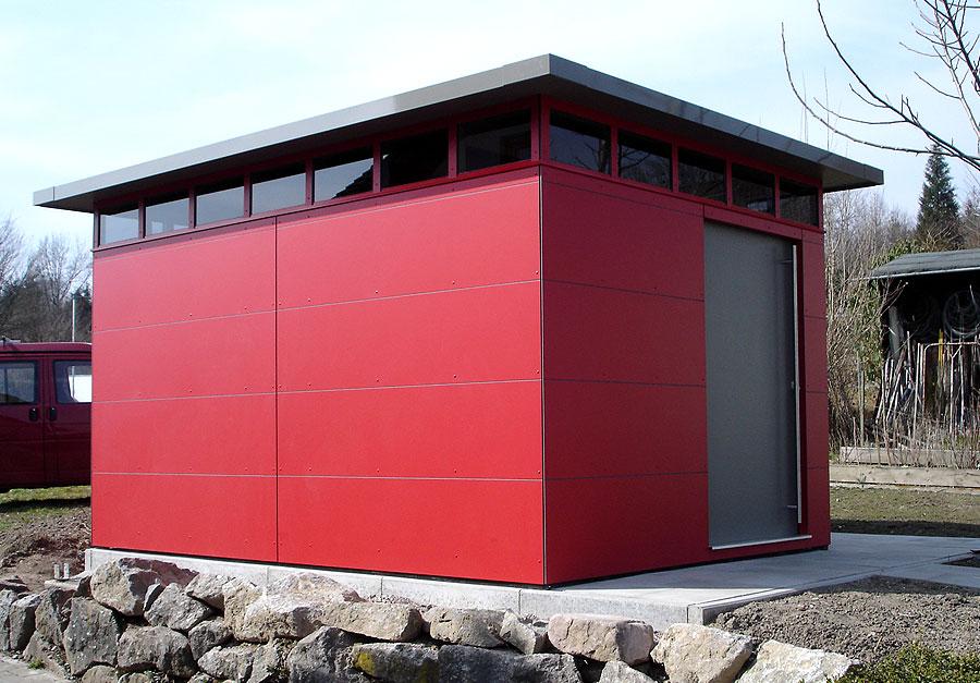 CUBE – Design Gartenhaus in Albbruck als Vater-Sohn Beziehung