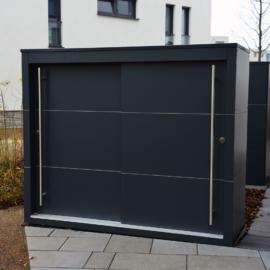 Großes KABINETT - Design Gartenschrank Projekt für eine exklusive Wohnanlage in Riedberg
