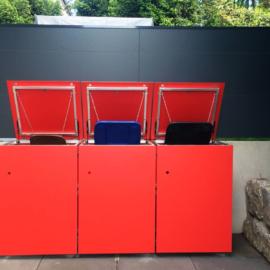 MÜTO - Design Mülltonnenbox und BLICKFANG - Design Sichtschutz bei Darmstadt