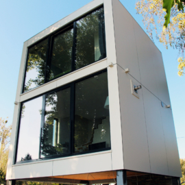 Hochwasserfestes CUBE - Design Gartenhaus auf 2 Etagen am Eicher See in Hamm