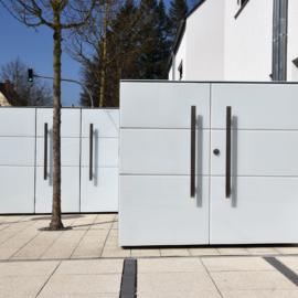 BIKEBOX - Design Fahrradgarage & MÜTO - Design Mülltonnenbox in Planegg München