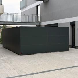 BLICKFANG - Design Sichtschutz umrandet Mülltonnen / Container Depot in Würzburg