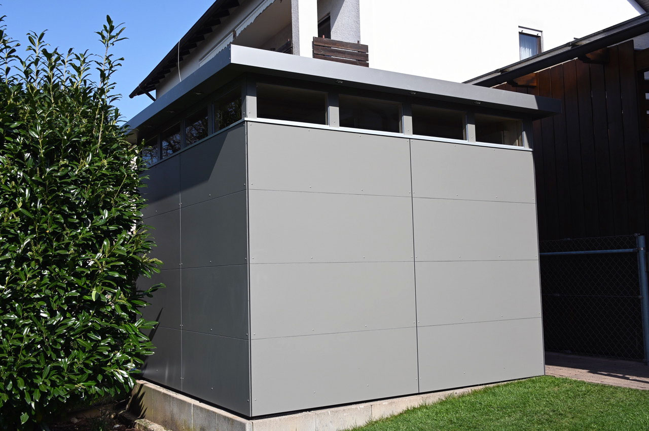 Aus alt mach neu! CUBE – Design Gartenhaus in Lohr am Main
