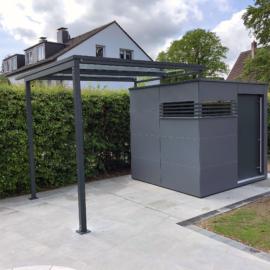 Exklusives CUBE - Design Gartenhaus mit Terrassendach in Hagen